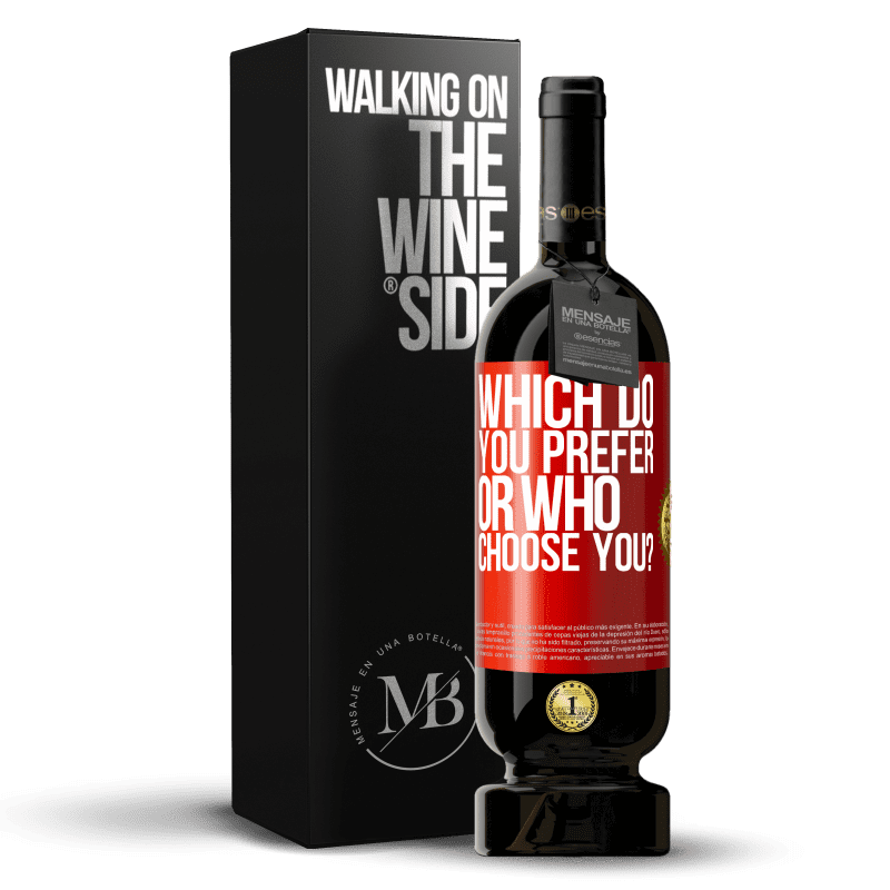 29,95 € Free Shipping | Red Wine Premium Edition MBS® Reserva which do you prefer, or who choose you? Red Label. Customizable label Reserva 12 Months Harvest 2013 Tempranillo