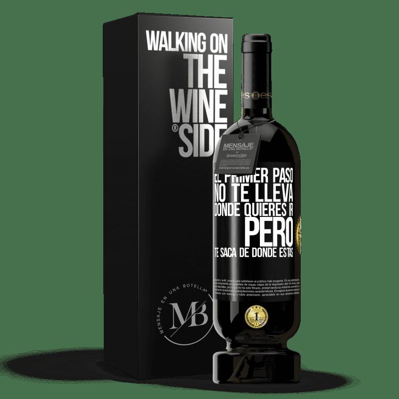 29,95 € Envoi gratuit   Vin rouge Édition Premium MBS® Reserva La première étape ne vous emmène pas où vous voulez aller, mais elle vous mène d'où vous êtes Étiquette Noire. Étiquette personnalisable Reserva 12 Mois Récolte 2013 Tempranillo