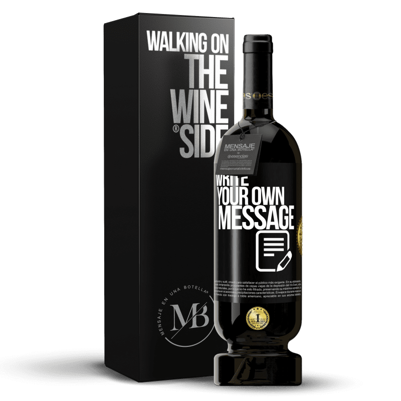 29,95 € Free Shipping | Red Wine Premium Edition MBS® Reserva Write your own message Black Label. Customizable label Reserva 12 Months Harvest 2013 Tempranillo