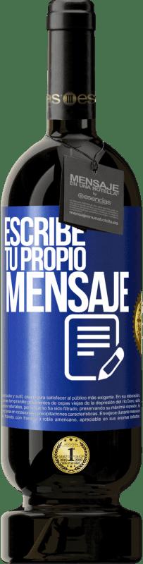29,95 € Envío gratis   Vino Tinto Edición Premium MBS® Reserva Escribe tu propio mensaje Etiqueta Azul. Etiqueta personalizable Reserva 12 Meses Cosecha 2013 Tempranillo