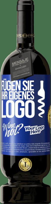 29,95 € Kostenloser Versand | Rotwein Premium Edition MBS® Reserva Fügen Sie Ihr eigenes Logo Blaue Markierung. Anpassbares Etikett Reserva 12 Monate Ernte 2013 Tempranillo