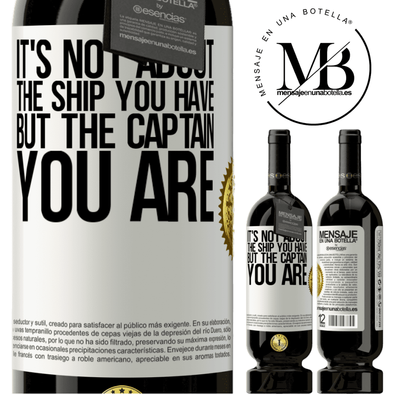29,95 € Free Shipping | Red Wine Premium Edition MBS® Reserva It's not about the ship you have, but the captain you are White Label. Customizable label Reserva 12 Months Harvest 2013 Tempranillo