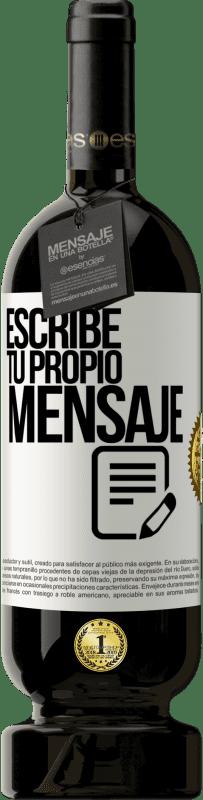 29,95 € Envío gratis   Vino Tinto Edición Premium MBS® Reserva Escribe tu propio mensaje Etiqueta Blanca. Etiqueta personalizable Reserva 12 Meses Cosecha 2013 Tempranillo