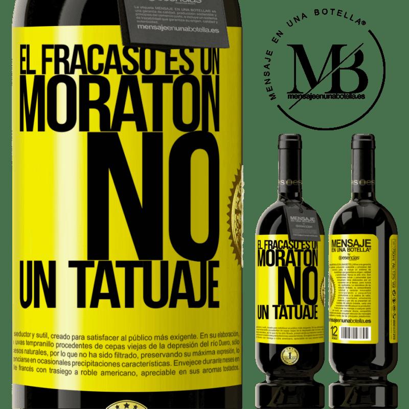29,95 € Envío gratis   Vino Tinto Edición Premium MBS® Reserva El fracaso es un moratón, no un tatuaje Etiqueta Amarilla. Etiqueta personalizable Reserva 12 Meses Cosecha 2013 Tempranillo