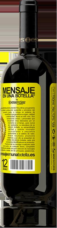 29,95 € Envoi gratuit | Vin rouge Édition Premium MBS® Reserva Nous sommes dans l'âge parfait pour garder le blâme, pas le désir Étiquette Jaune. Étiquette personnalisable Reserva 12 Mois Récolte 2013 Tempranillo