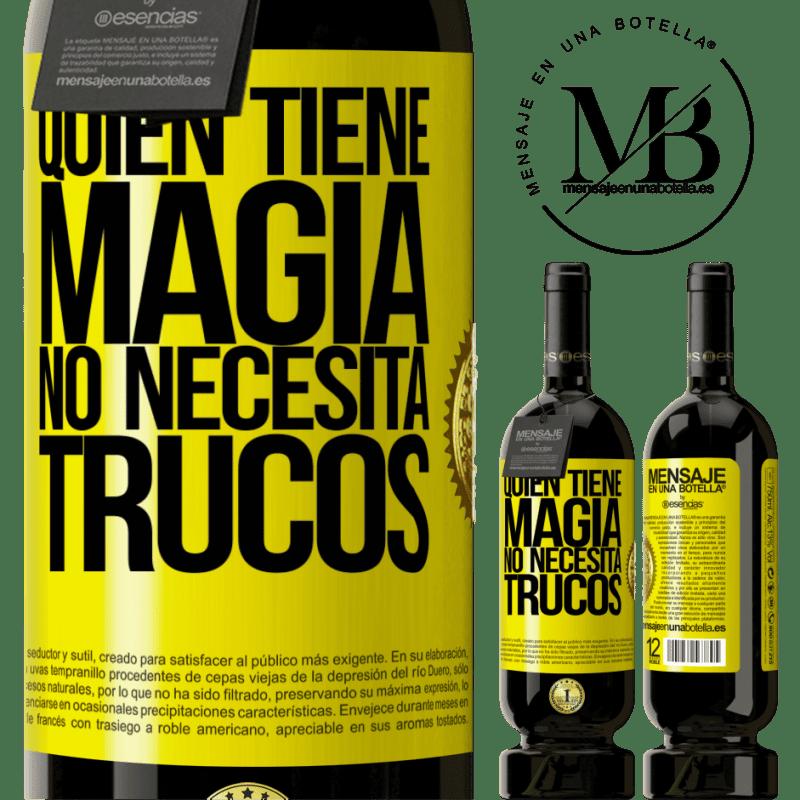 29,95 € Envoi gratuit | Vin rouge Édition Premium MBS® Reserva Qui a de la magie n'a pas besoin de tours Étiquette Jaune. Étiquette personnalisable Reserva 12 Mois Récolte 2013 Tempranillo