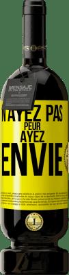 29,95 € Envoi gratuit   Vin rouge Édition Premium MBS® Reserva N'ayez pas peur. Envie Étiquette Jaune. Étiquette personnalisable Reserva 12 Mois Récolte 2013 Tempranillo