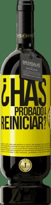 35,95 € Envío gratis | Vino Tinto Edición Premium MBS Reserva ¿Has probado a reiniciar? Etiqueta Amarilla. Etiqueta personalizable I.G.P. Vino de la Tierra de Castilla y León Crianza en barrica de roble 12 Meses Cosecha 2013 España Tempranillo