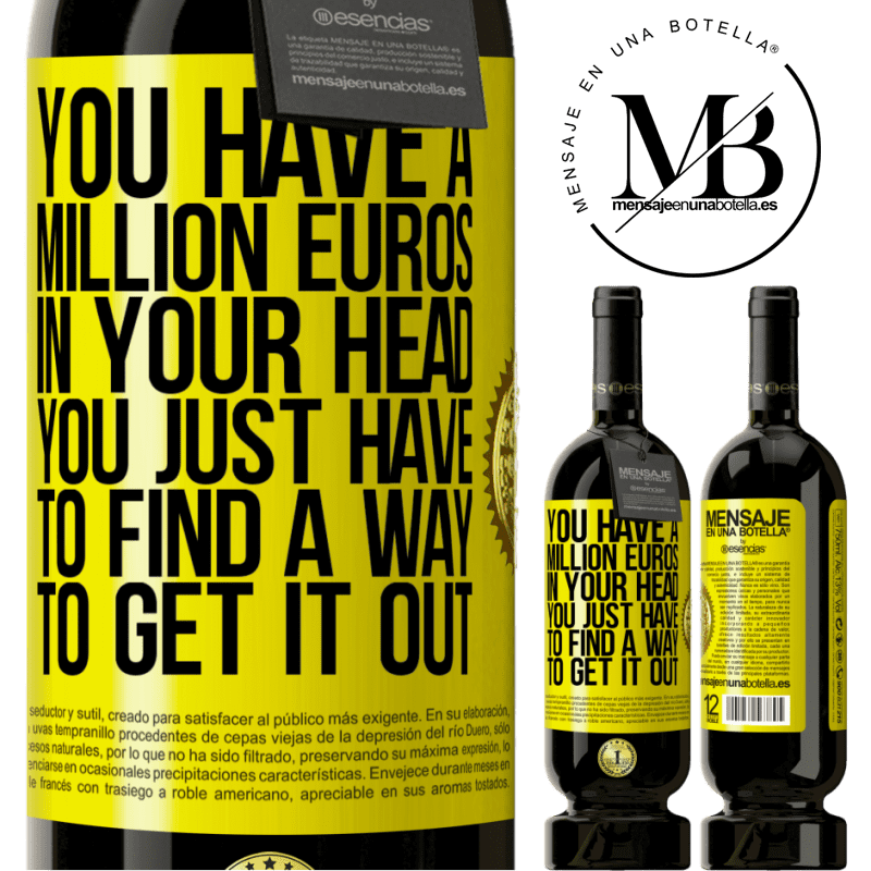 29,95 € Free Shipping | Red Wine Premium Edition MBS® Reserva You have a million euros in your head. You just have to find a way to get it out Yellow Label. Customizable label Reserva 12 Months Harvest 2013 Tempranillo
