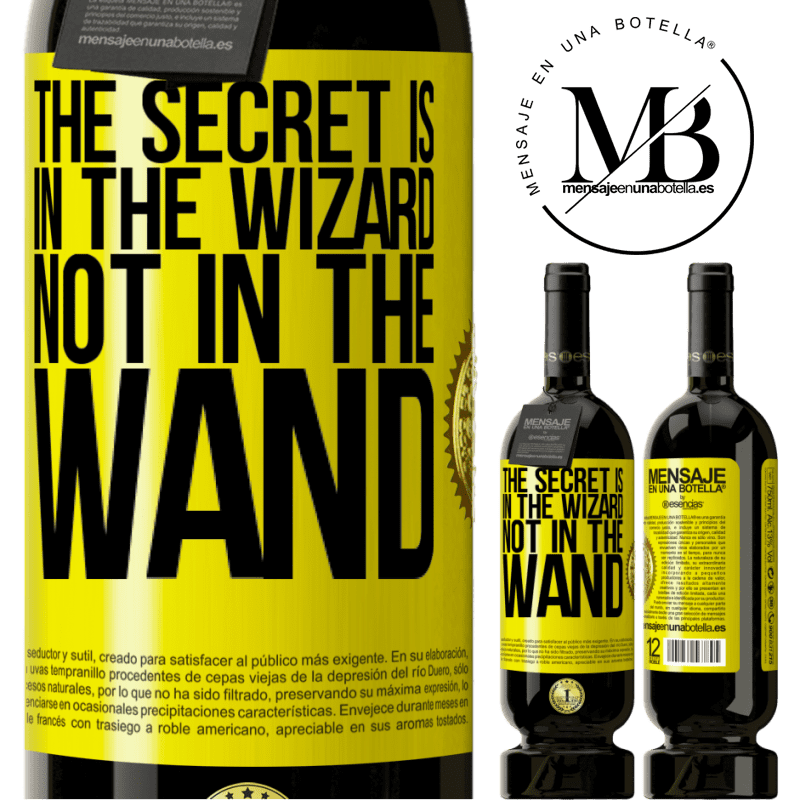 29,95 € Free Shipping | Red Wine Premium Edition MBS® Reserva The secret is in the wizard, not in the wand Yellow Label. Customizable label Reserva 12 Months Harvest 2013 Tempranillo