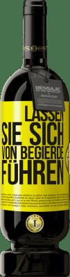 29,95 € Kostenloser Versand | Rotwein Premium Edition MBS® Reserva Lassen Sie sich von Begierde führen Gelbes Etikett. Anpassbares Etikett Reserva 12 Monate Ernte 2013 Tempranillo