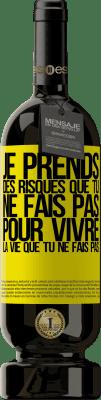 29,95 € Envoi gratuit   Vin rouge Édition Premium MBS® Reserva Je prends des risques que tu ne fais pas, pour vivre la vie que tu ne fais pas Étiquette Jaune. Étiquette personnalisable Reserva 12 Mois Récolte 2013 Tempranillo