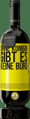 29,95 € Kostenloser Versand | Rotwein Premium Edition MBS® Reserva Ohne Königin gibt es keine Burg Gelbes Etikett. Anpassbares Etikett Reserva 12 Monate Ernte 2013 Tempranillo