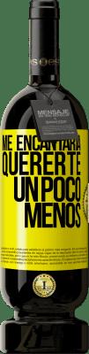 29,95 € Envío gratis   Vino Tinto Edición Premium MBS® Reserva Me encantaría quererte un poco menos Etiqueta Amarilla. Etiqueta personalizable Reserva 12 Meses Cosecha 2013 Tempranillo