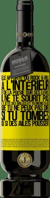 24,95 € Envoi gratuit | Vin rouge Édition Premium RED MBS Elle apporte du Rock & Roll à l'intérieur et de la poésie sur ses lèvres. Il ne te sourit pas, il te jette des balles et tu Étiquette Jaune. Étiquette personnalisée I.G.P. Vino de la Tierra de Castilla y León Vieillissement en fûts de chêne 12 Mois Récolte 2016 Espagne Tempranillo