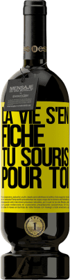 24,95 € Envoi gratuit | Vin rouge Édition Premium RED MBS La vie s'en fiche, tu souris pour toi Étiquette Jaune. Étiquette personnalisée I.G.P. Vino de la Tierra de Castilla y León Vieillissement en fûts de chêne 12 Mois Récolte 2016 Espagne Tempranillo