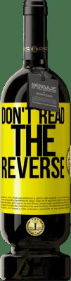 24,95 € Free Shipping | Red Wine Premium Edition RED MBS Don't read the reverse Yellow Label. Customized label I.G.P. Vino de la Tierra de Castilla y León Aging in oak barrels 12 Months Harvest 2016 Spain Tempranillo