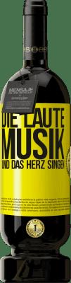 29,95 € Kostenloser Versand | Rotwein Premium Edition MBS® Reserva Die laute Musik und das Herz singen Gelbes Etikett. Anpassbares Etikett Reserva 12 Monate Ernte 2013 Tempranillo