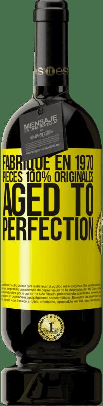 24,95 € Envoi gratuit | Vin rouge Édition Premium RED MBS Fabriqué en 1970, pièces 100% originales. Âge à la perfection Étiquette Jaune. Étiquette personnalisée I.G.P. Vino de la Tierra de Castilla y León Vieillissement en fûts de chêne 12 Mois Récolte 2016 Espagne Tempranillo