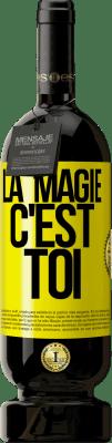 29,95 € Envoi gratuit | Vin rouge Édition Premium MBS® Reserva La magie c'est toi Étiquette Jaune. Étiquette personnalisable Reserva 12 Mois Récolte 2013 Tempranillo
