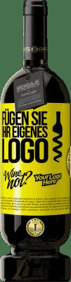 29,95 € Kostenloser Versand | Rotwein Premium Edition MBS® Reserva Fügen Sie Ihr eigenes Logo Gelbes Etikett. Anpassbares Etikett Reserva 12 Monate Ernte 2013 Tempranillo