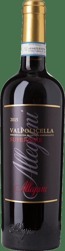 15,95 € Free Shipping | Red wine Allegrini Superiore D.O.C. Valpolicella Veneto Italy Corvina, Rondinella, Oseleta Bottle 75 cl