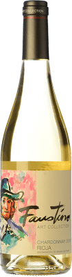 9,95 € Free Shipping | White wine Faustino Art Collection D.O.Ca. Rioja The Rioja Spain Chardonnay Bottle 75 cl