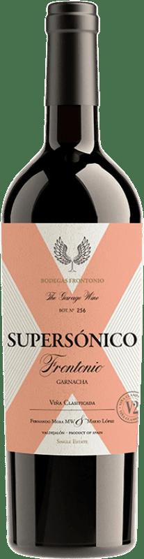 19,95 € Free Shipping | Red wine Frontonio Supersónico Roble I.G.P. Vino de la Tierra de Valdejalón Spain Grenache Bottle 75 cl
