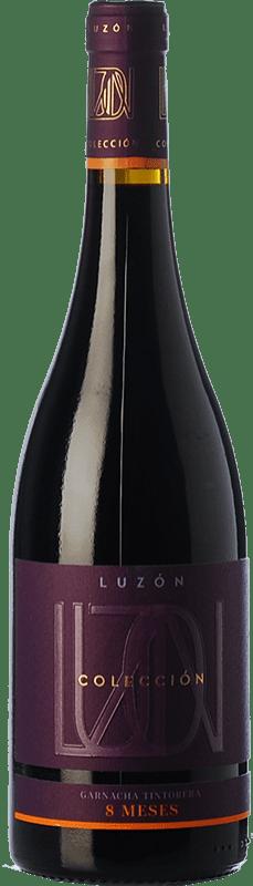11,95 € Free Shipping | Red wine Luzón Colección 8 Meses Roble D.O. Jumilla Castilla la Mancha Spain Grenache Tintorera Bottle 75 cl