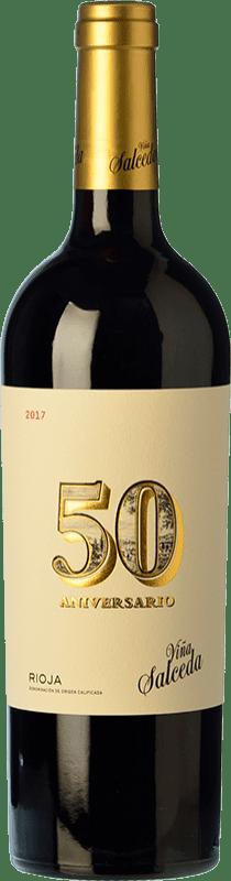 29,95 € Free Shipping   Red wine Viña Salceda 50 Aniversario Reserva D.O.Ca. Rioja The Rioja Spain Tempranillo Bottle 75 cl