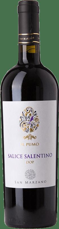 9,95 € Free Shipping | Red wine San Marzano Il Pumo D.O.C. Salice Salentino Puglia Italy Malvasia Black, Negroamaro Bottle 75 cl