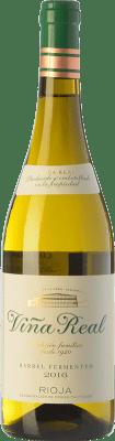 9,95 € Free Shipping | White wine Norte de España - CVNE Viña Real Blanco Fermentado en Barrica Crianza D.O.Ca. Rioja The Rioja Spain Viura Bottle 75 cl