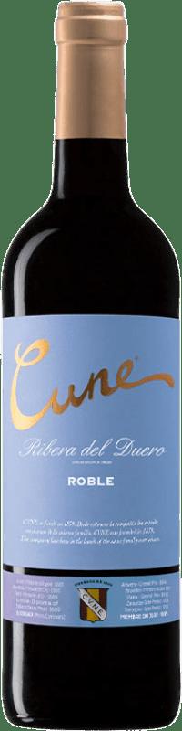8,95 € Free Shipping | Red wine Norte de España - CVNE Cune Roble D.O. Ribera del Duero Castilla y León Spain Tempranillo Bottle 75 cl
