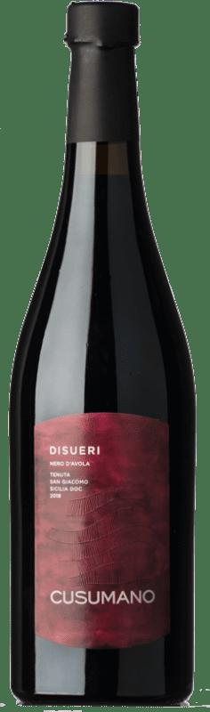11,95 € Free Shipping | Red wine Cusumano Disueri D.O.C. Sicilia Sicily Italy Nero d'Avola Bottle 75 cl