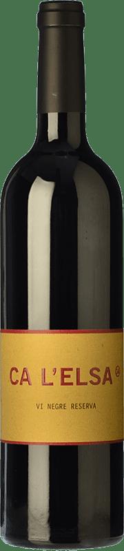 56,95 € Free Shipping   Red wine Eccociwine Ca l'Elsa Crianza Spain Cabernet Sauvignon, Cabernet Franc, Petit Verdot Bottle 75 cl