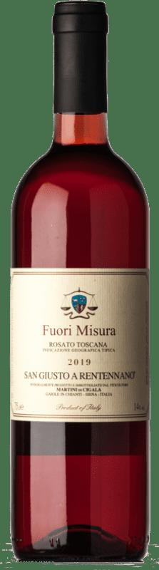 11,95 € Free Shipping   Rosé wine San Giusto a Rentennano Rosato Fuori Misura I.G.T. Toscana Tuscany Italy Merlot, Sangiovese, Canaiolo Bottle 75 cl