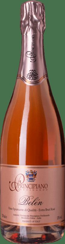 21,95 € Free Shipping   Rosé sparkling Ferdinando Principiano Belen Rosé Extra Brut D.O.C. Piedmont Piemonte Italy Barbera Bottle 75 cl