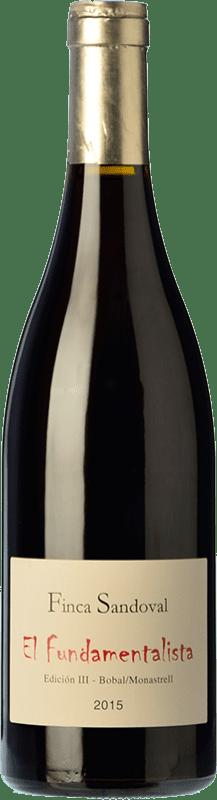 12,95 € Free Shipping | Red wine Finca Sandoval El Fundamentalista Crianza D.O. Manchuela Spain Monastrell, Bobal Bottle 75 cl
