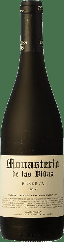 6,95 € Free Shipping | Red wine Grandes Vinos Monasterio de las Viñas Reserva D.O. Cariñena Spain Tempranillo, Grenache, Carignan Bottle 75 cl