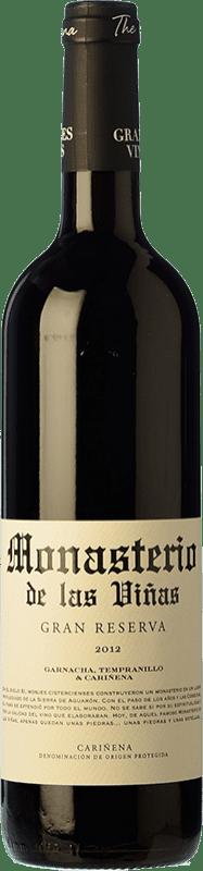 10,95 € Free Shipping | Red wine Grandes Vinos Monasterio de las Viñas Gran Reserva D.O. Cariñena Spain Tempranillo, Grenache, Carignan Bottle 75 cl
