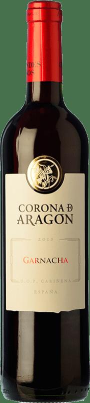 4,95 € Free Shipping | Red wine Grandes Vinos Corona de Aragón Joven D.O. Cariñena Spain Grenache Bottle 75 cl