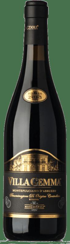 64,95 € Free Shipping | Red wine Masciarelli Villa Gemma Riserva Reserva D.O.C. Montepulciano d'Abruzzo Abruzzo Italy Montepulciano Bottle 75 cl