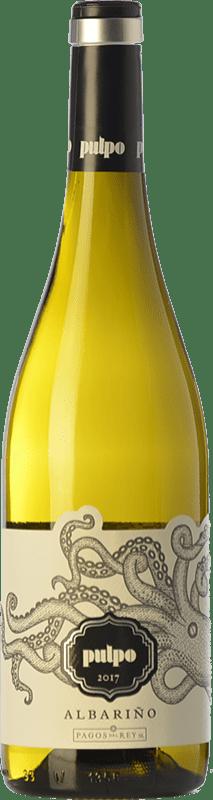 13,95 € Free Shipping | White wine Pagos del Rey Pulpo D.O. Rías Baixas Galicia Spain Albariño Bottle 75 cl