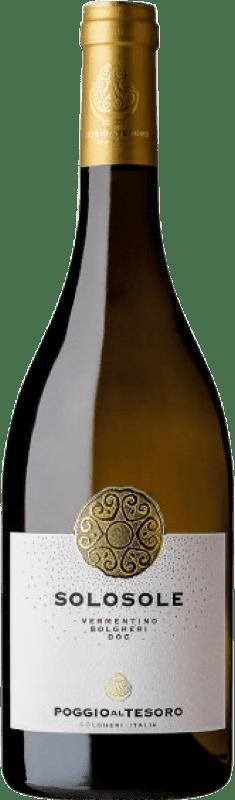 19,95 € Free Shipping   White wine Poggio al Tesoro Solosole D.O.C. Bolgheri Tuscany Italy Vermentino Bottle 75 cl