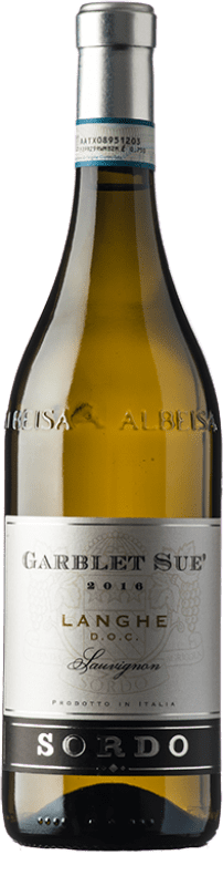 10,95 € Free Shipping | White wine Sordo Garblet Sué D.O.C. Langhe Piemonte Italy Sauvignon Bottle 75 cl