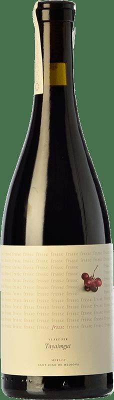 10,95 € Free Shipping   Red wine Tayaimgut Fresc Negre Crianza Spain Merlot Bottle 75 cl