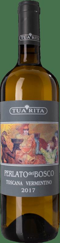 15,95 € Free Shipping | White wine Tua Rita Perlato del Bosco Bianco I.G.T. Toscana Tuscany Italy Vermentino Bottle 75 cl