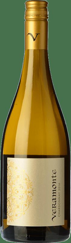 10,95 € Free Shipping | White wine Veramonte Crianza I.G. Valle de Casablanca Valley of Casablanca Chile Chardonnay Bottle 75 cl