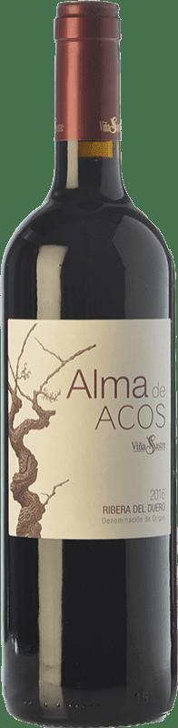 16,95 € Free Shipping | Red wine Viña Sastre Alma de Acos Crianza D.O. Ribera del Duero Castilla y León Spain Tempranillo Bottle 75 cl