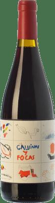 19,95 € Kostenloser Versand | Rotwein 4 Kilos Gallinas & Focas Crianza I.G.P. Vi de la Terra de Mallorca Balearen Spanien Syrah, Mantonegro Flasche 75 cl